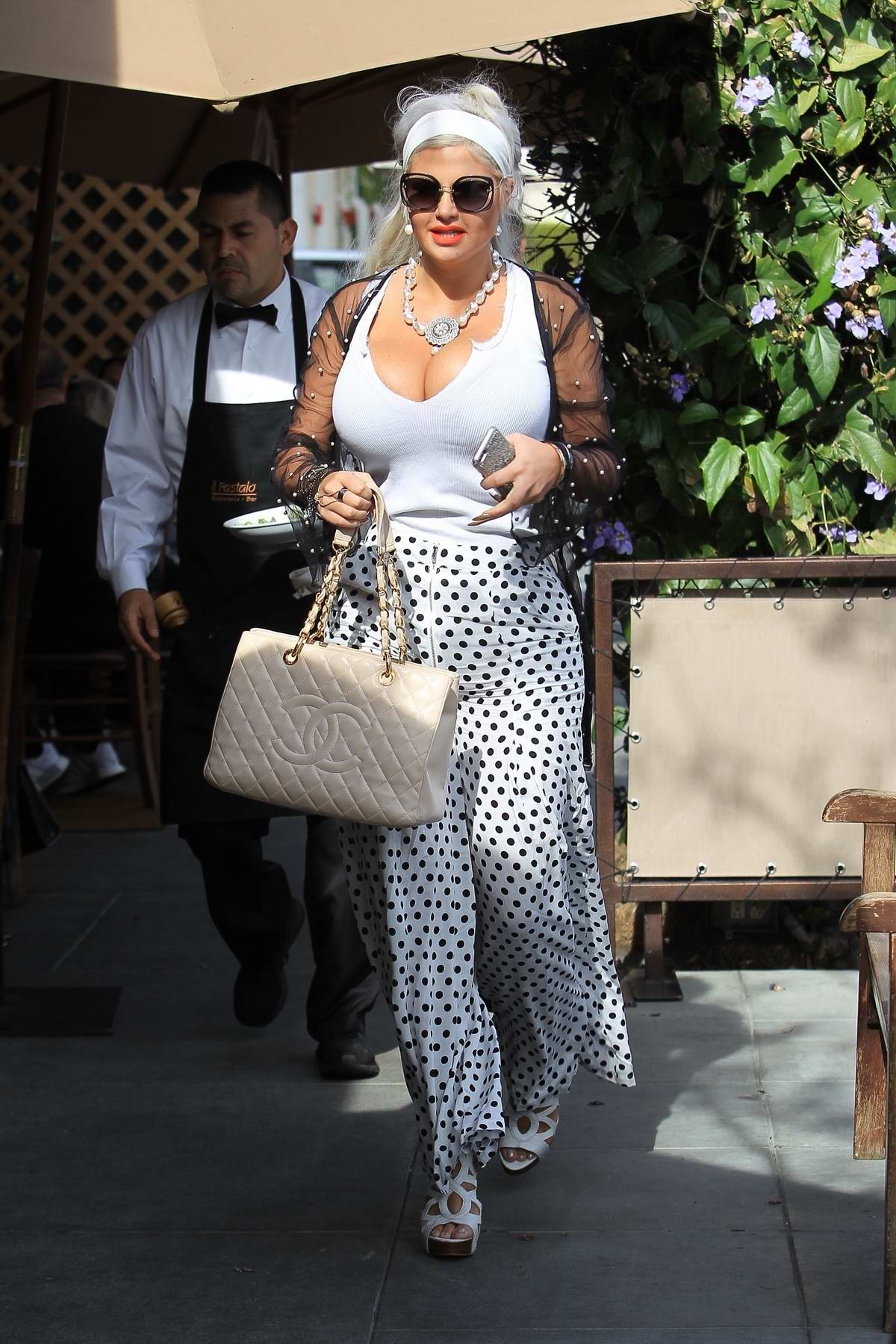 Sophia Vegas Wollersheim spotted leaving after lunch in Beverly Hills, Los Angeles