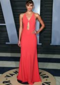 Taylor Hill attends 2018 Vanity Fair Oscar Party at the Wallis Annenberg Center for the Performing Arts in Beverly Hills, Los Angeles
