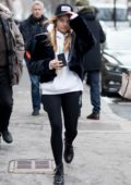Thylane Blondeau wears a 'Los Amigos' hat while out and about in Paris, France