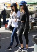 Victoria Justice and Madison Reed enjoys a day out at the farmers market in Studio City, Los Angeles