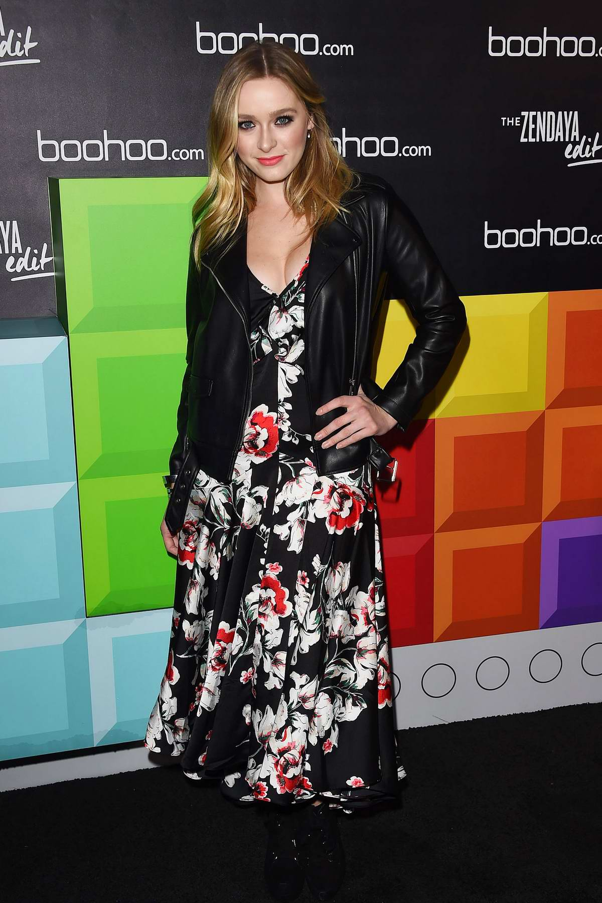 Greer Grammer at the BooHoo hosts 'The Zendaya Edit' Block Party in Los Angeles