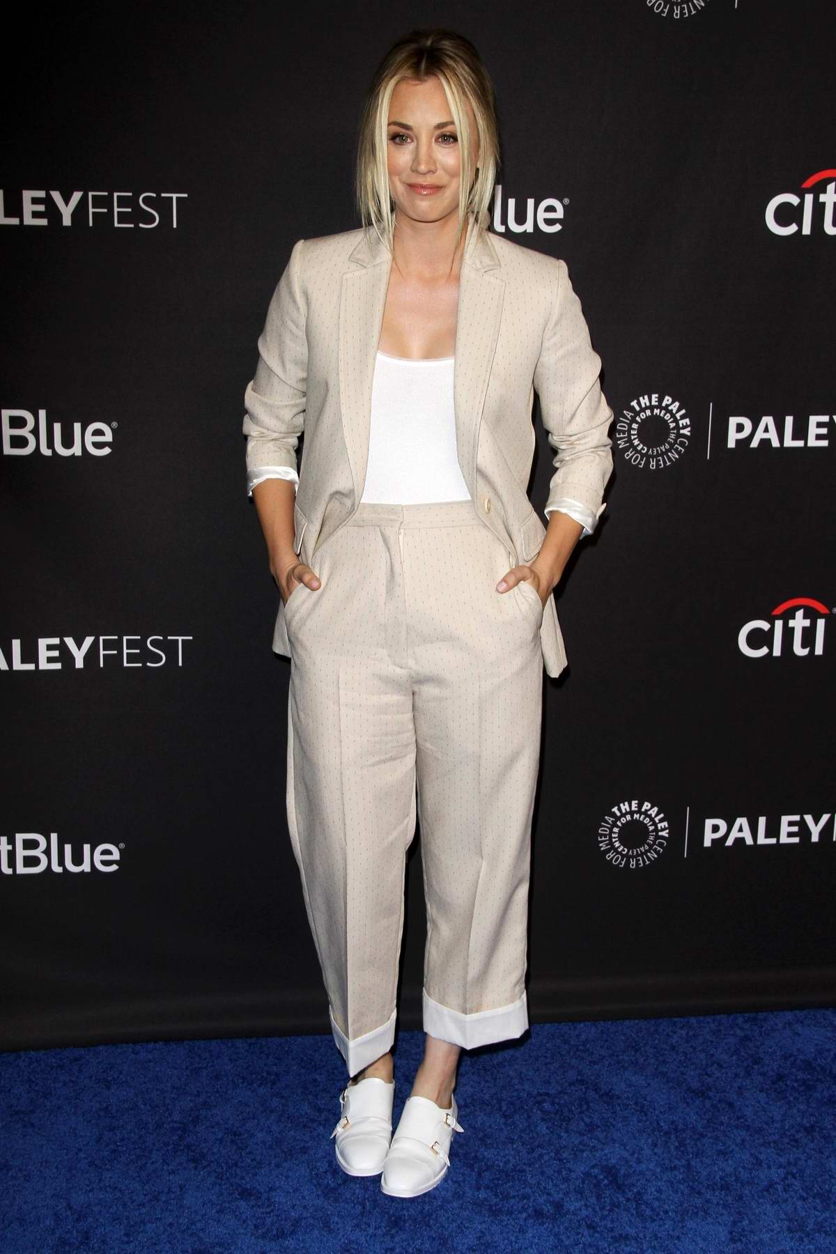 Kaley Cuoco attends 'The Big Bang Theory' and 'Young Sheldon' TV show presentation at Paleyfest in Los Angeles