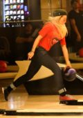Rita Ora spotted out with friends at Shatto 39 Bowling Lanes in Los Angeles