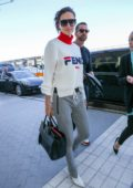 Adriana Lima arriving at Nice airport as part as the 71st Cannes Film Festival in Nice, France