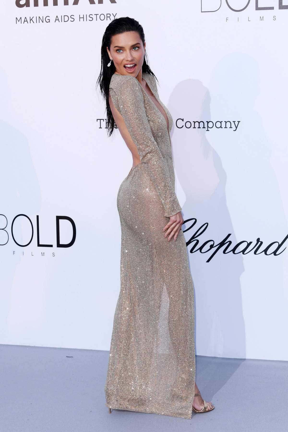 Adriana Lima at the amfAR's 25th Cinema Against AIDS Gala during 71st Cannes Film Festival, France