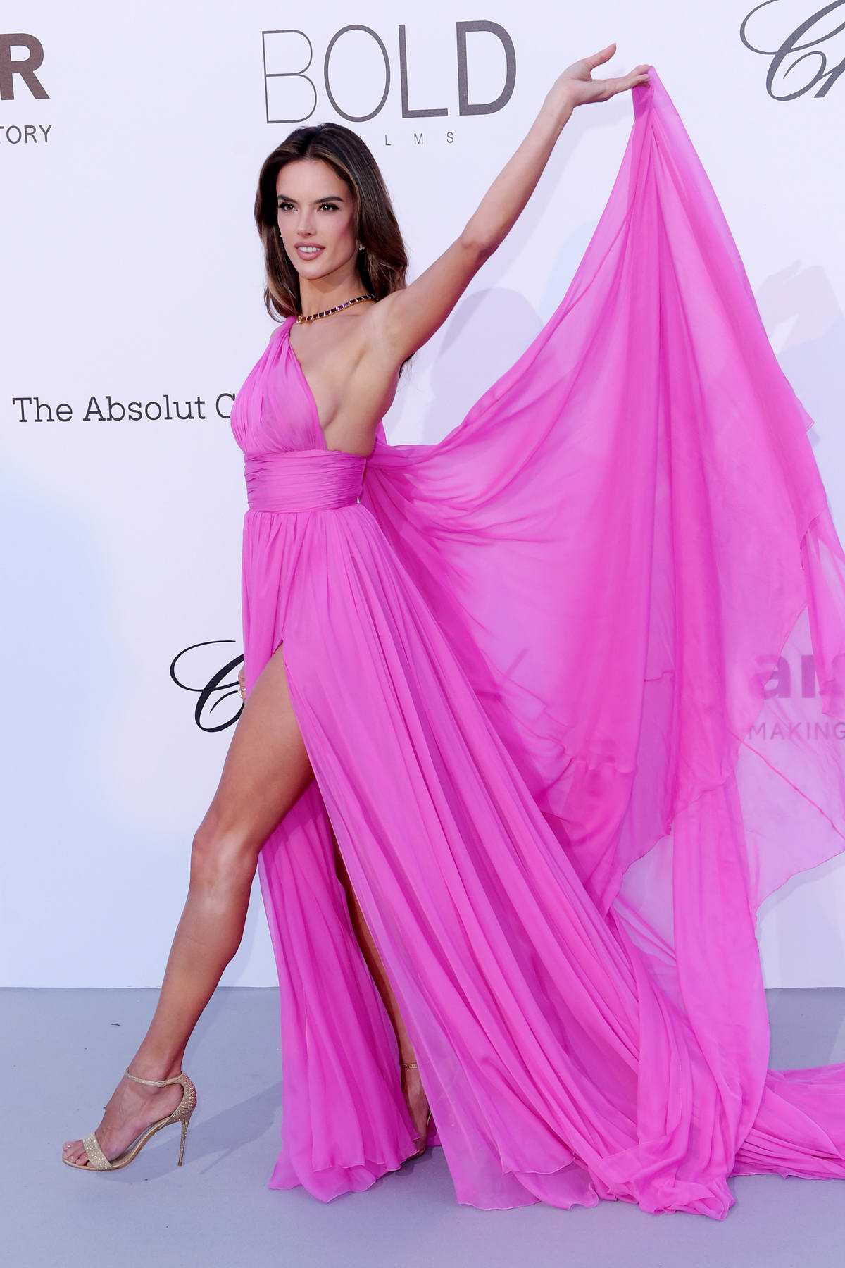 Alessandra Ambrosio at the amfAR's 25th Cinema Against AIDS Gala during 71st Cannes Film Festival, France