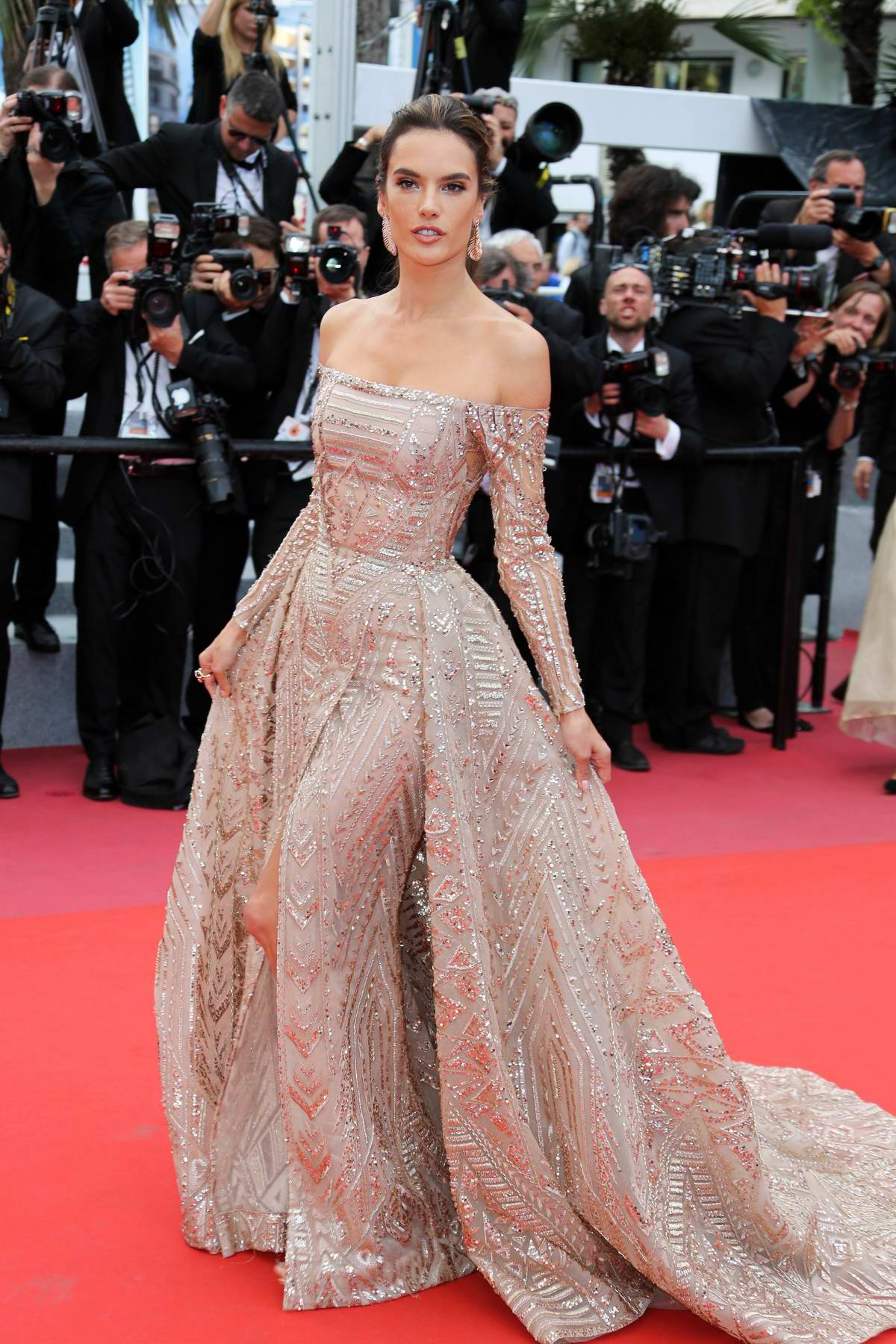 Alessandra Ambrosio attending 'The Wild Pear Tree' premiere during the 71st annual Cannes Film Festival in Cannes, France
