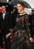 Alessandra Ambrosio attends the 'BlacKkKlansman' premiere during 71st Cannes Film Festival in Cannes, France