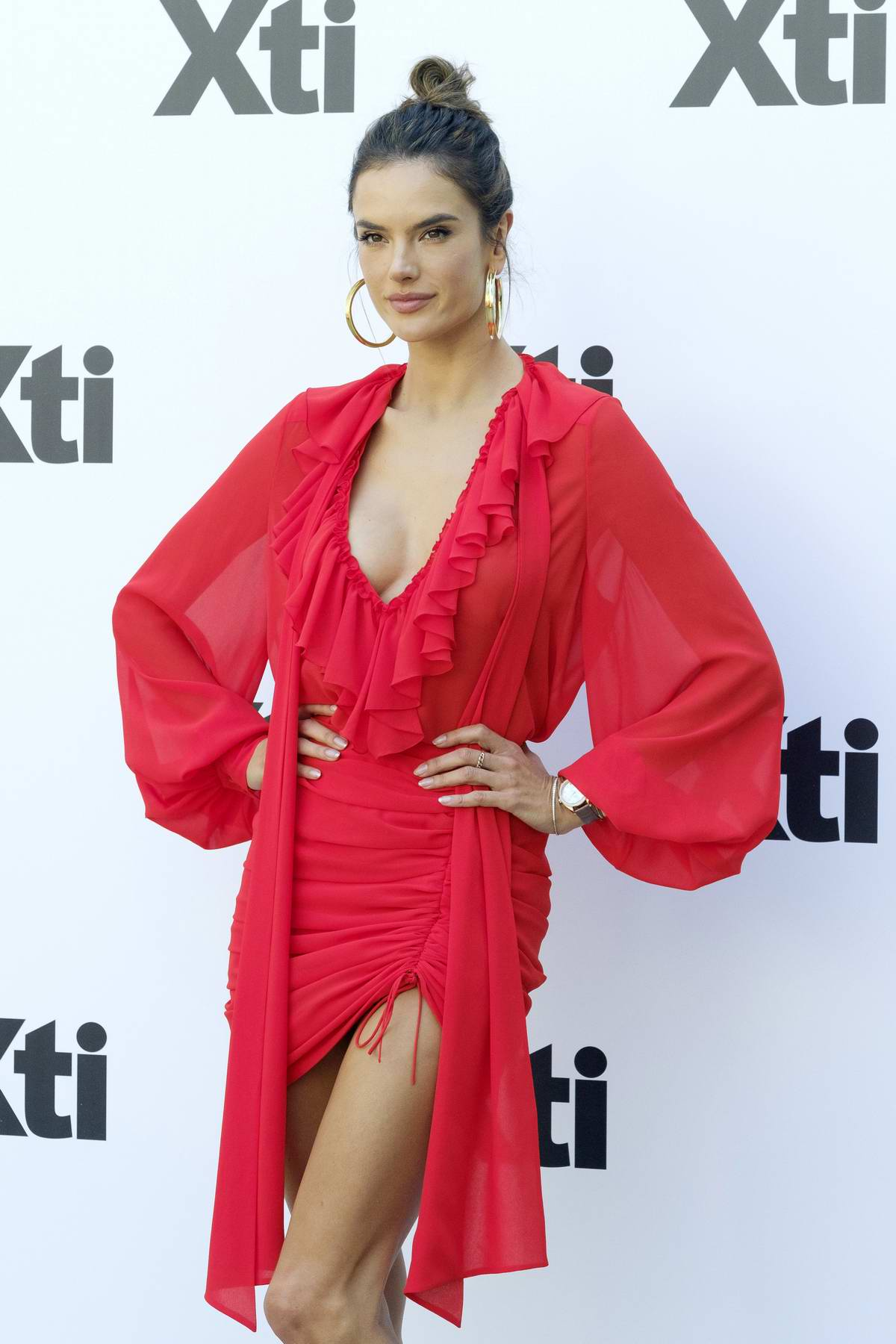 Alessandra Ambrosio attends 'Xti New Collection' presentation at Santo Mauro Hotel in Madrid, Spain