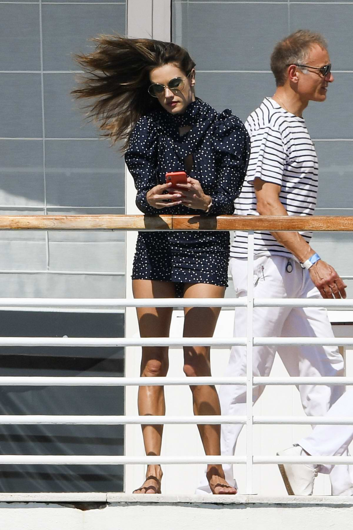 Alessandra Ambrosio spotted at the Hotel du Cap Eden Roc in Antibes, France