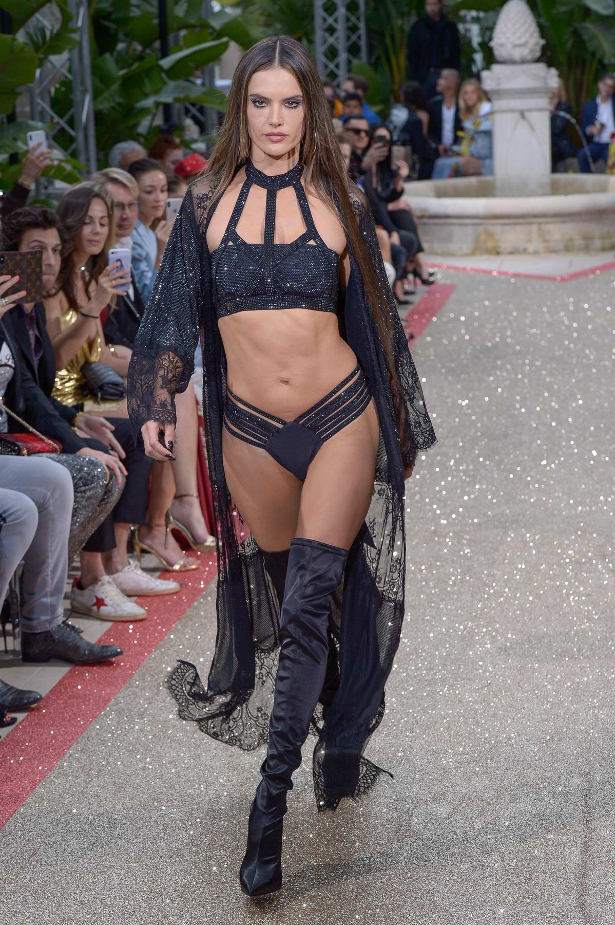 Alessandra Ambrosio walks the runway for Philipp Plein Resort show during the 71st Cannes Film Festival in Cannes, France