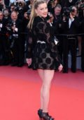 Amber Heard attends 'Girls Of The Sun' premiere during 71st Annual Cannes Film Festival in Cannes, France