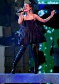 Ariana Grande performs at the 2018 Billboard Music Awards at MGM Grand Garden in Las Vegas, Nevada