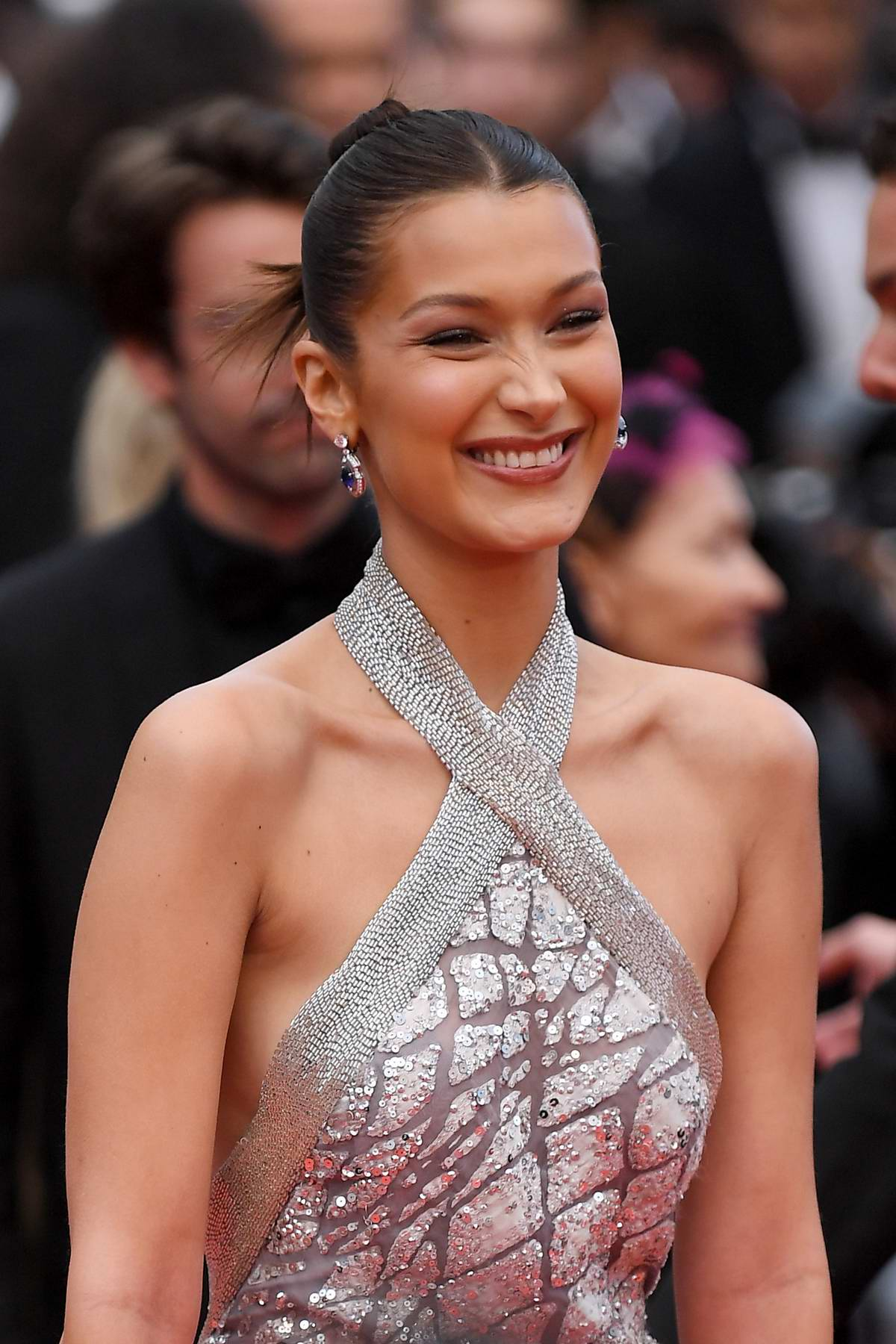 Bella Hadid attends the 'BlacKkKlansman' premiere during 71st Cannes Film Festival in Cannes, France
