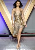 Bella Hadid walks the runway for Fashion For Relief, Cannes 2018 during the 71st annual Cannes Film Festival, France