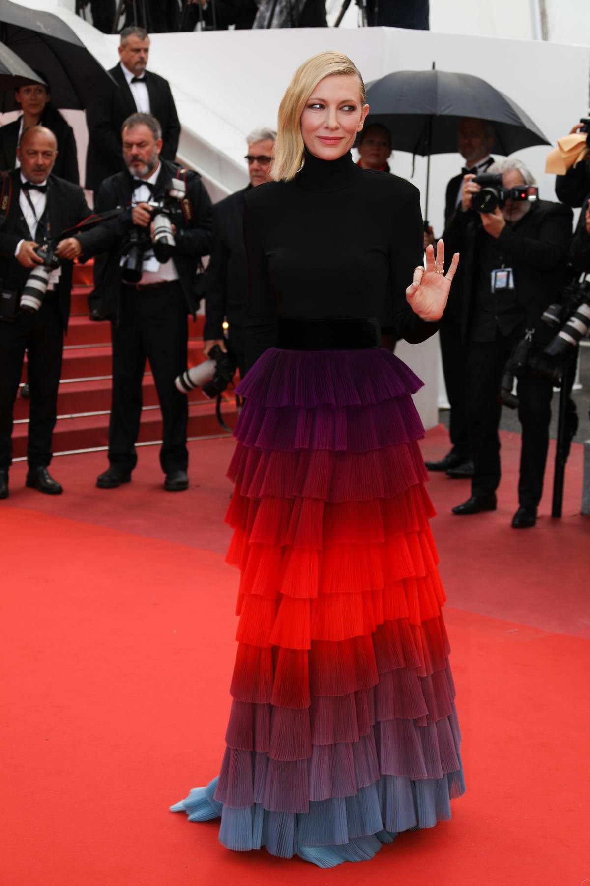 Cate Blanchett attends the 'BlacKkKlansman' premiere during 71st Cannes Film Festival in Cannes, France
