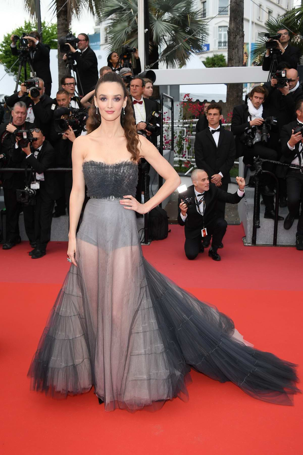 Charlotte Le Bon attends the 'BlacKkKlansman' premiere during 71st Cannes Film Festival in Cannes, France