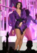 Dua Lipa performs at the 2018 Billboard Music Awards at MGM Grand Garden in Las Vegas, Nevada