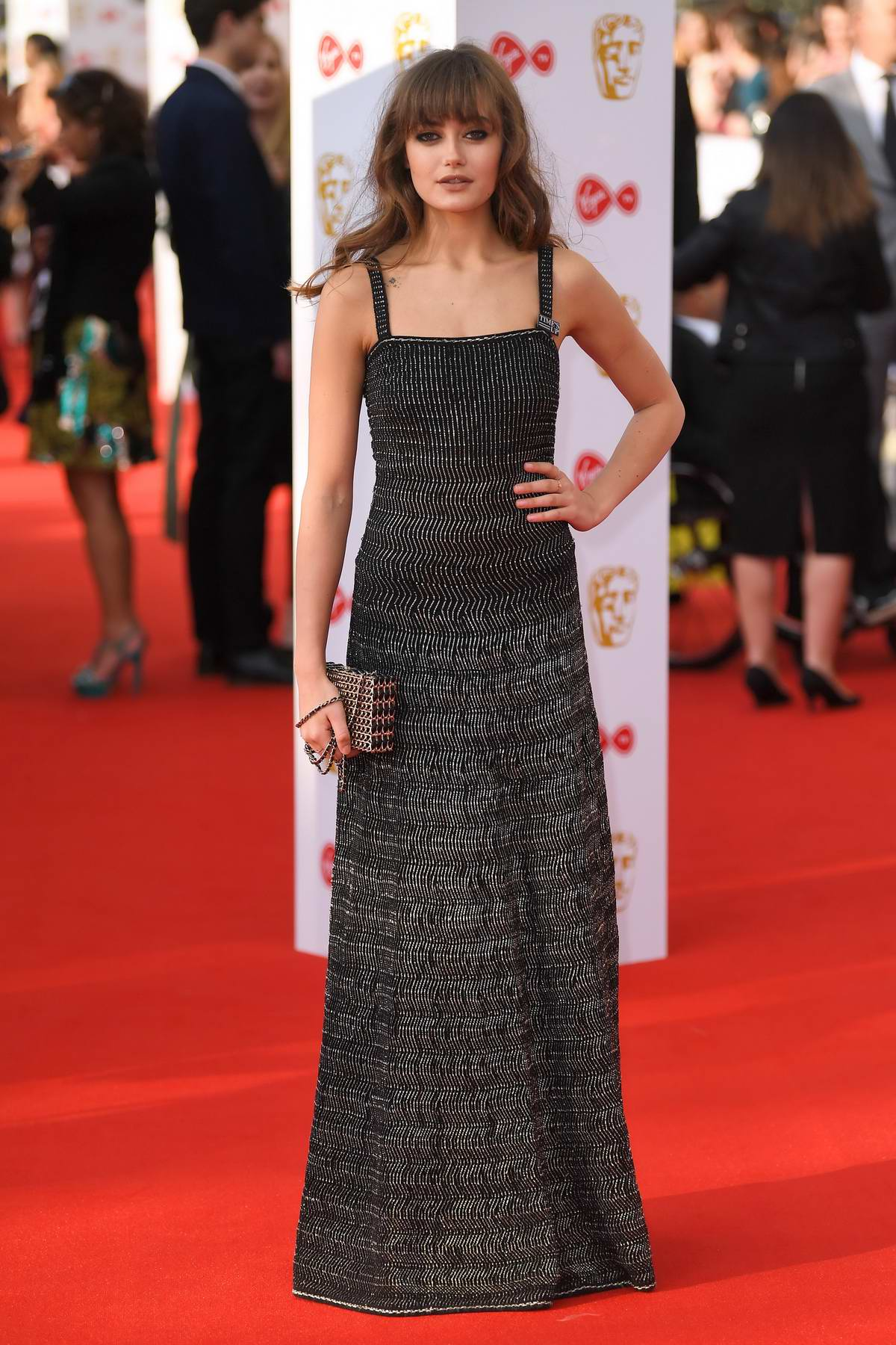 Ella Purnell attends British Academy Television Awards (BAFTA 2018) at Royal Festival Hall in London, UK