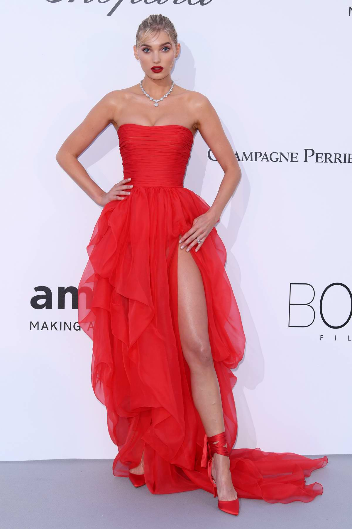 Elsa Hosk at the amfAR's 25th Cinema Against AIDS Gala during 71st Cannes Film Festival, France