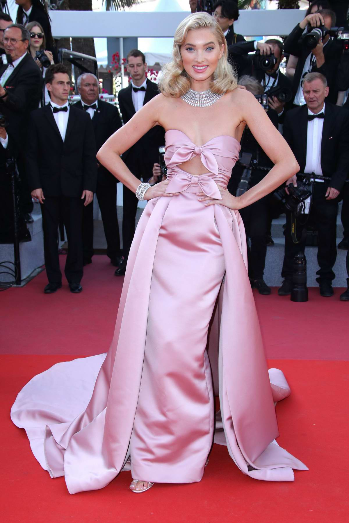 Elsa Hosk attends 'Girls Of The Sun' premiere during 71st Annual Cannes Film Festival in Cannes, France