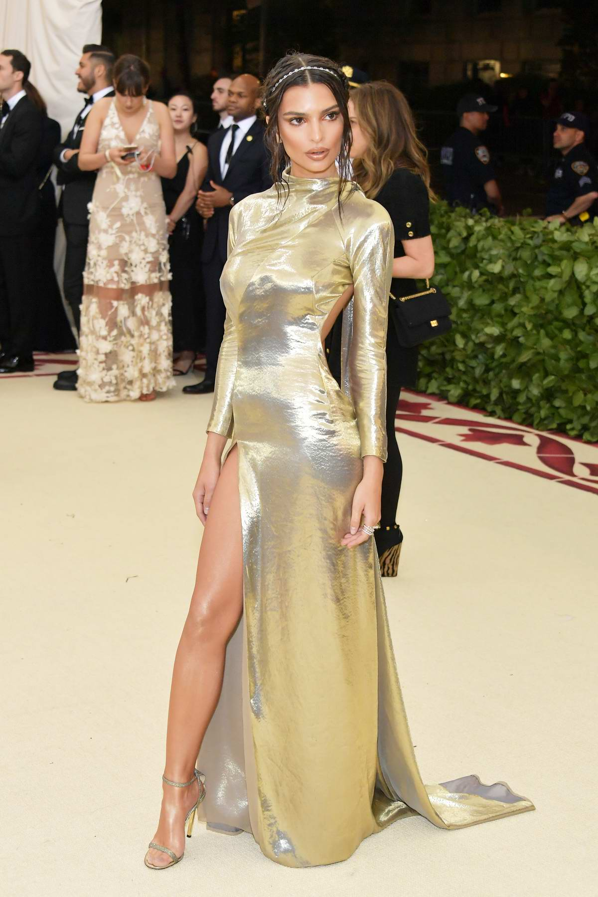 Emily Ratajkowski attends The Costume Institute Benefit Gala (MET Gala 2018) at Metropolitan Museum of Art in New York City