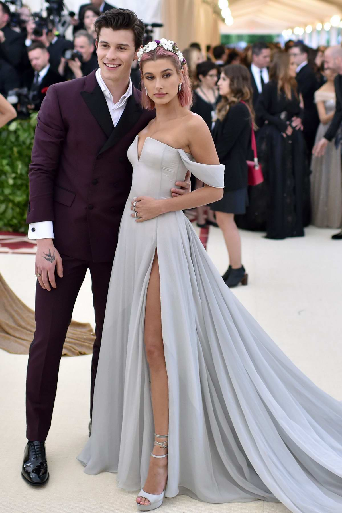 Hailey Baldwin and Shawn Mendes attend The Costume Institute Benefit Gala (MET Gala 2018) at Metropolitan Museum of Art in New York City
