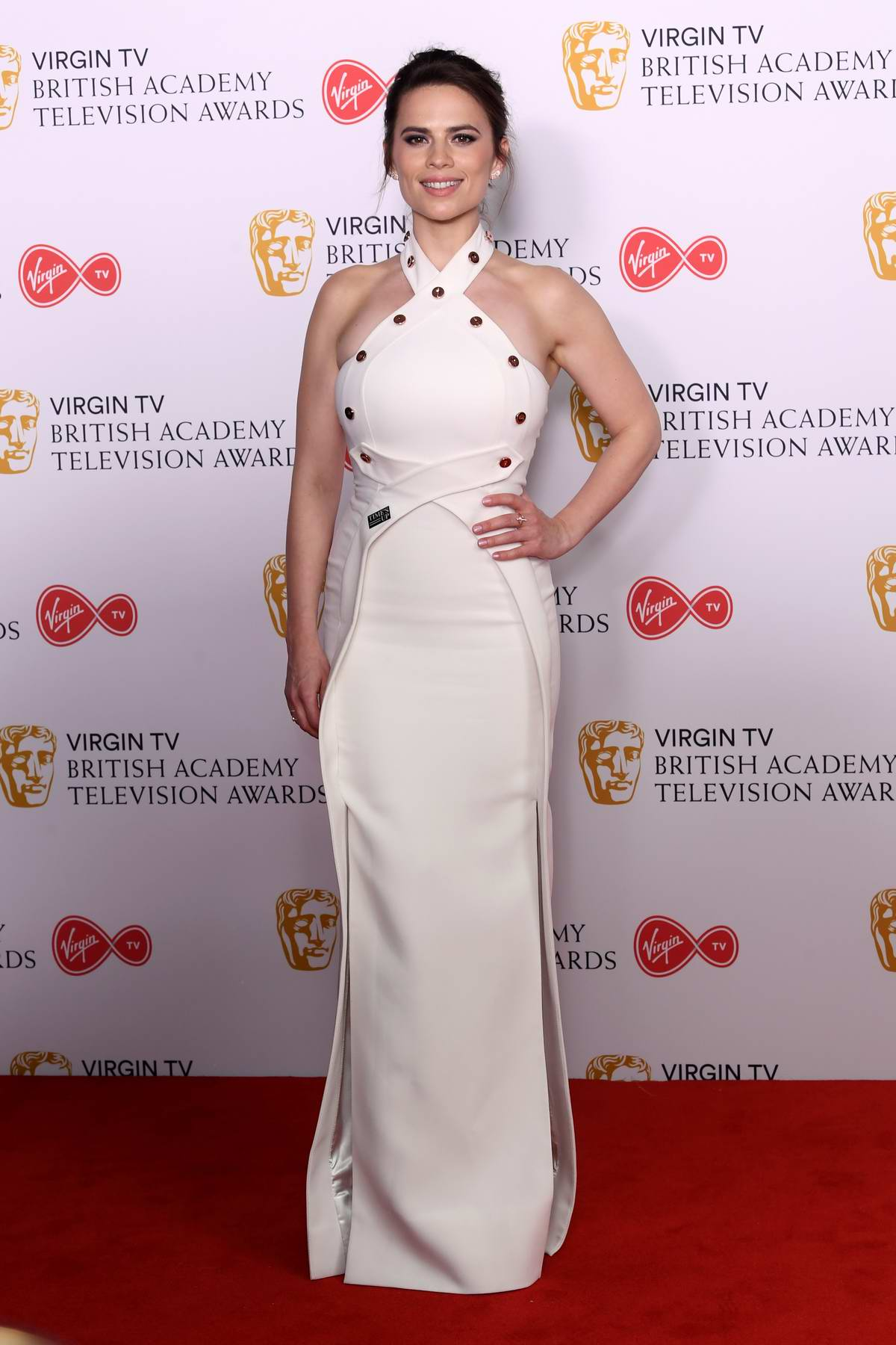 Hayley Atwell attends British Academy Television Awards (BAFTA 2018) at Royal Festival Hall in London, UK