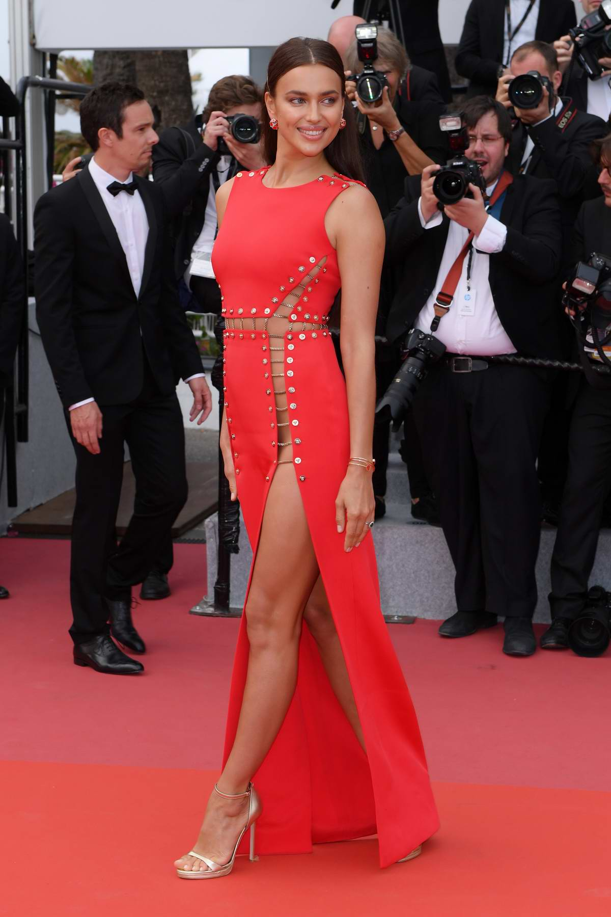Irina Shayk at the premiere of 'Sorry Angel' during 71st Cannes Film Festival in Cannes, France