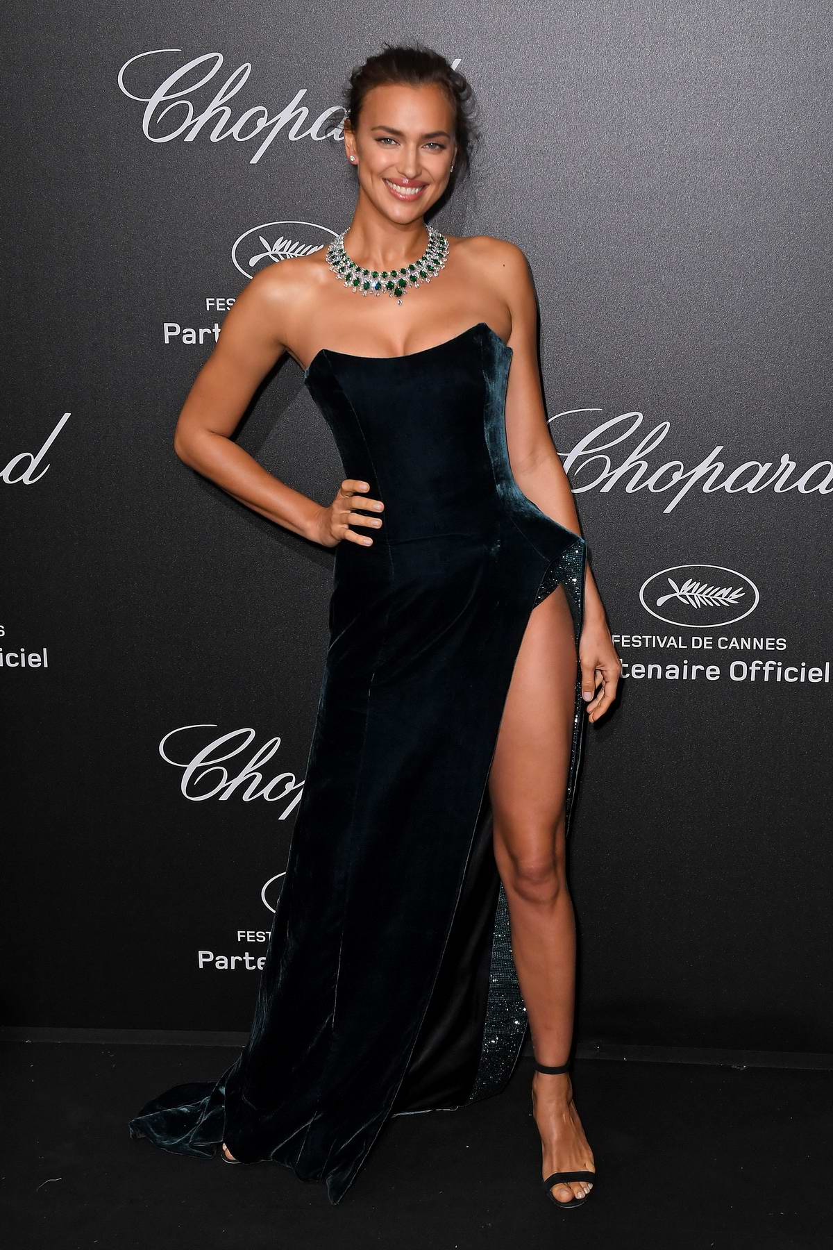 Irina Shayk attends Secret Chopard party during the 71st Cannes Film Festival in Cannes, France