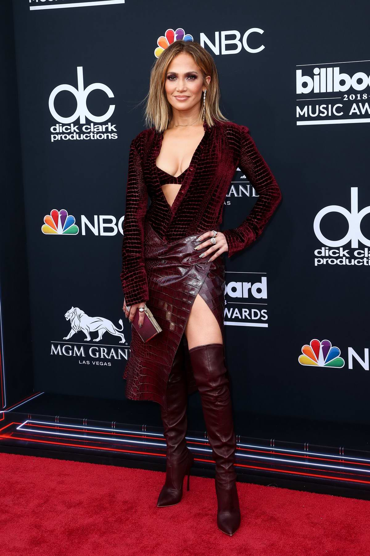 Jennifer Lopez attends the 2018 Billboard Music Awards at MGM Grand Garden in Las Vegas, Nevada