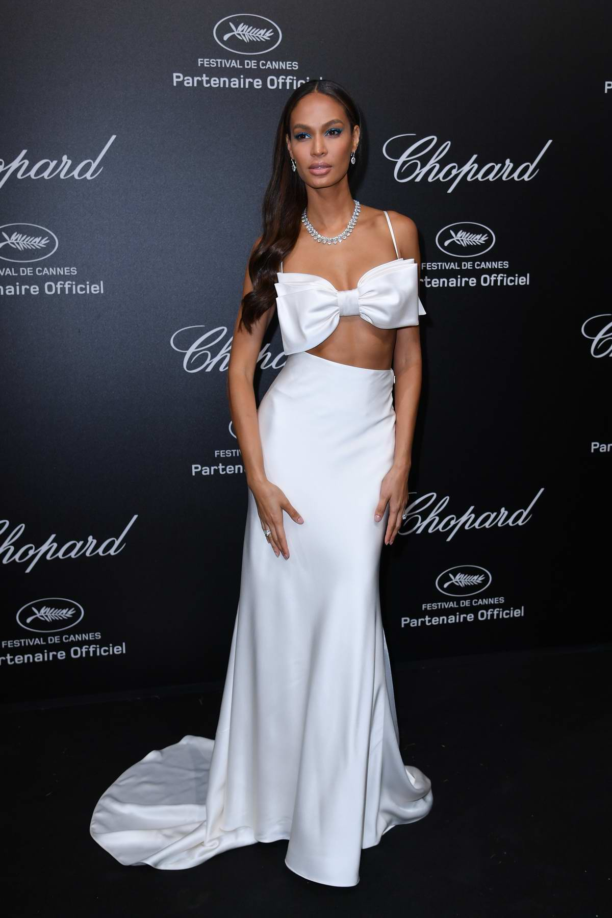 Joan Smalls attends Secret Chopard party during the 71st Cannes Film Festival in Cannes, France