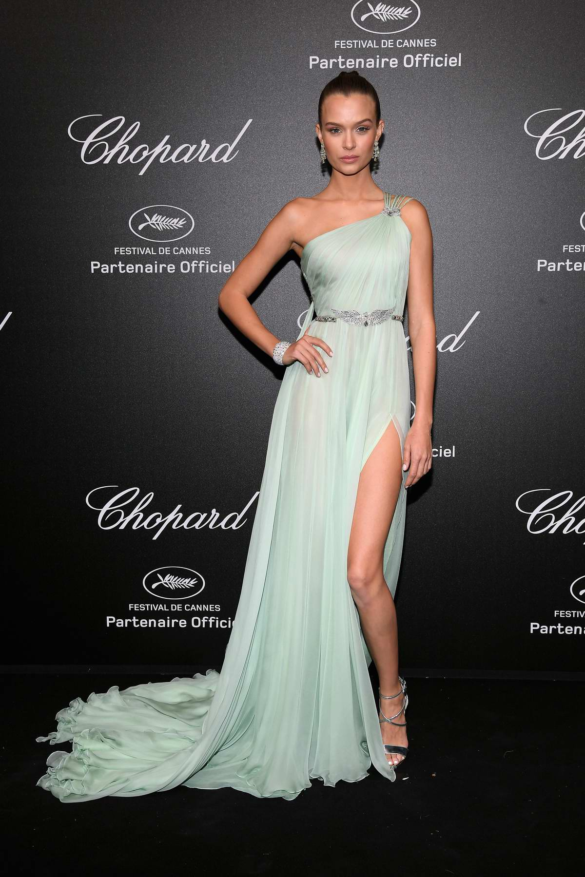 Josephine Skriver attends Secret Chopard party during the 71st Cannes Film Festival in Cannes, France
