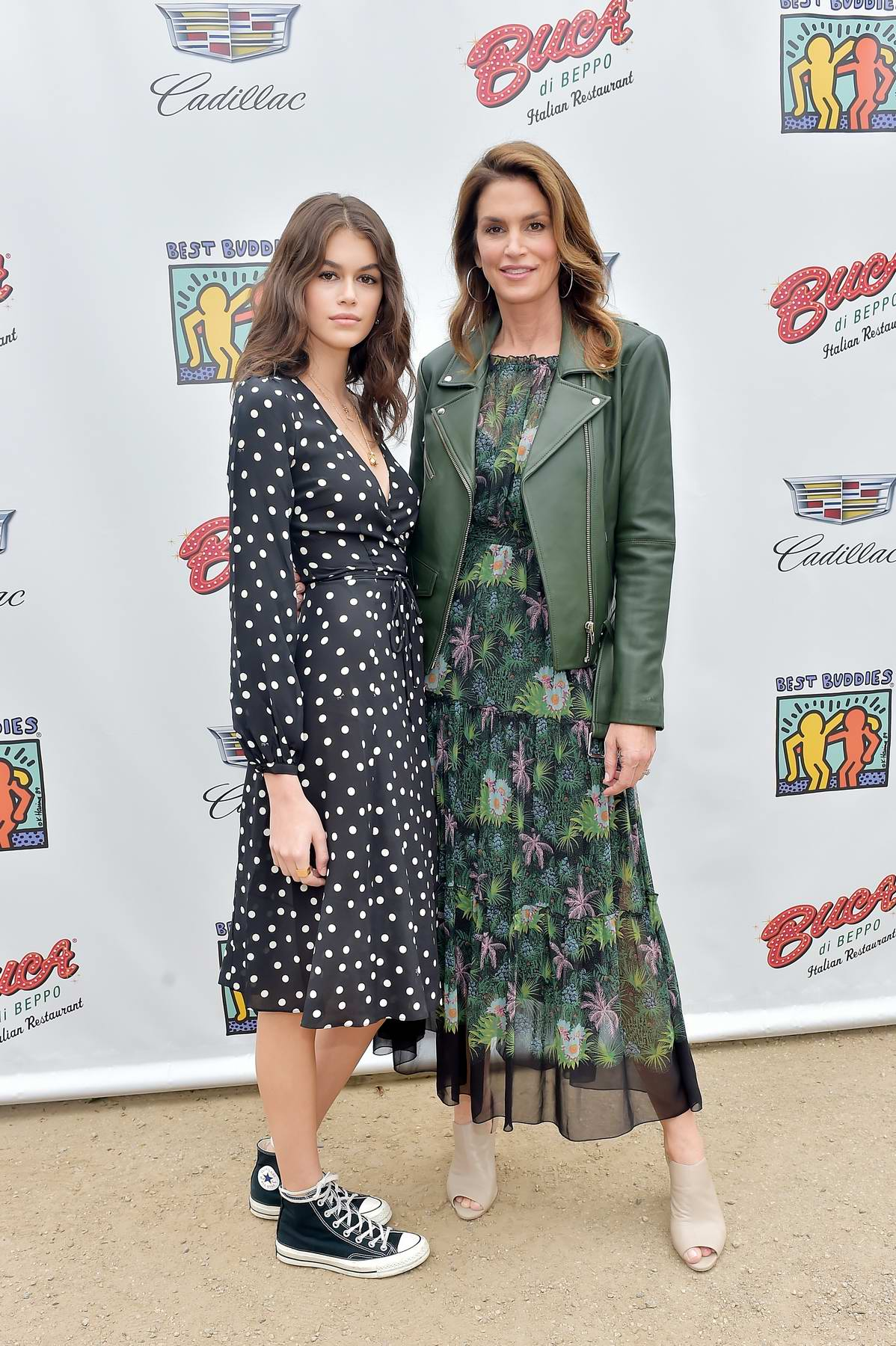 Kaia Gerber and Cindy Crawford attends 2018 Best Buddies Mother's Day brunch hosted by Vanessa Hudgens in Malibu, California