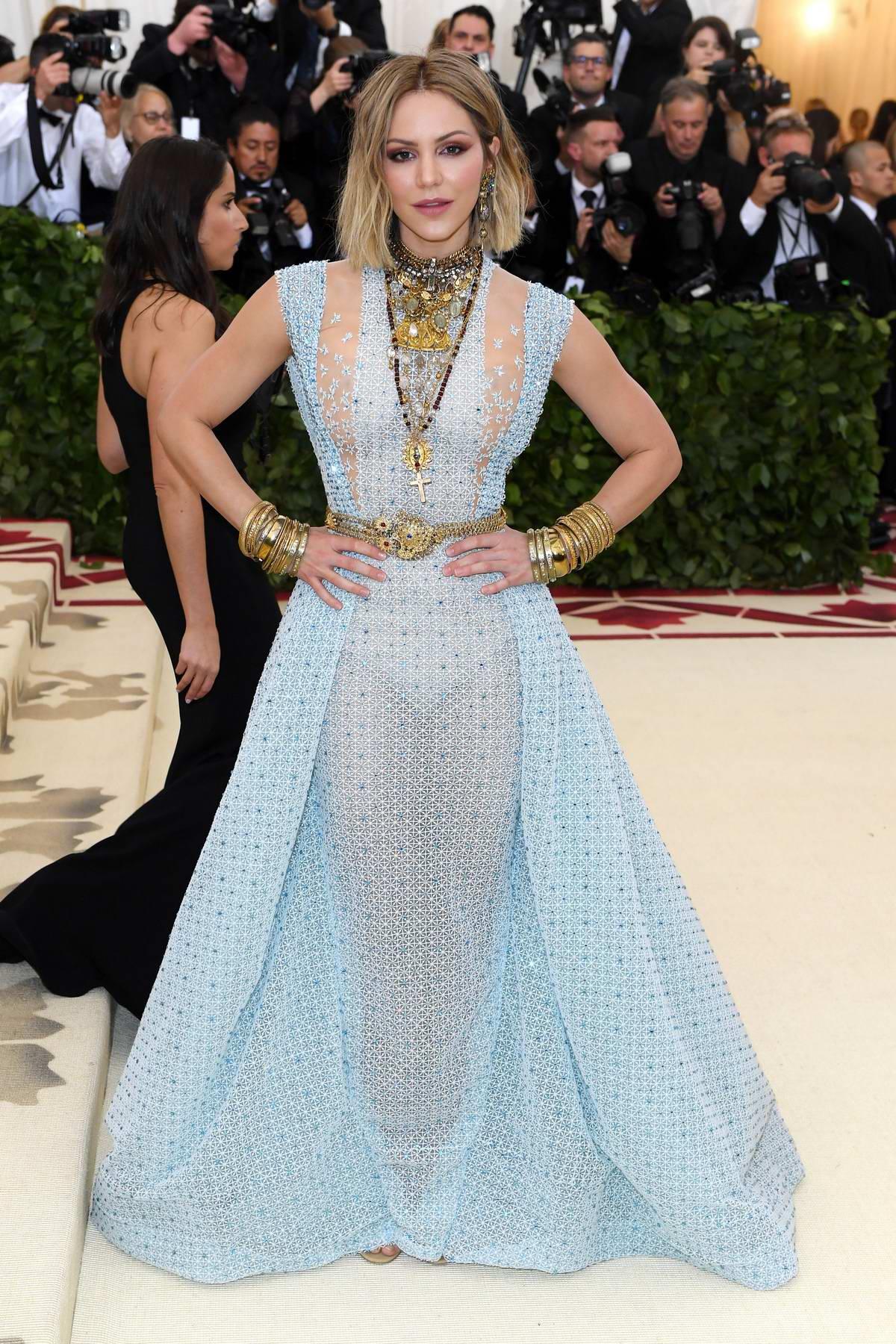 Katharine McPhee attends The Costume Institute Benefit Gala (MET Gala 2018) at Metropolitan Museum of Art in New York City