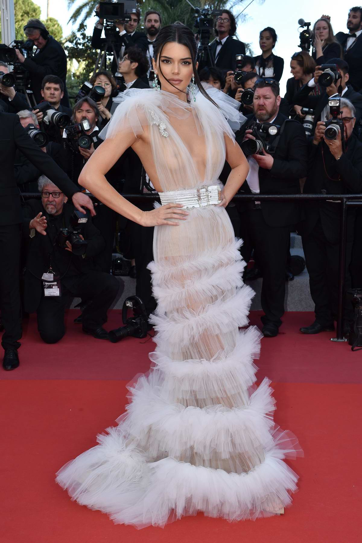 Kendall Jenner attends 'Girls Of The Sun' premiere during 71st Annual Cannes Film Festival in Cannes, France