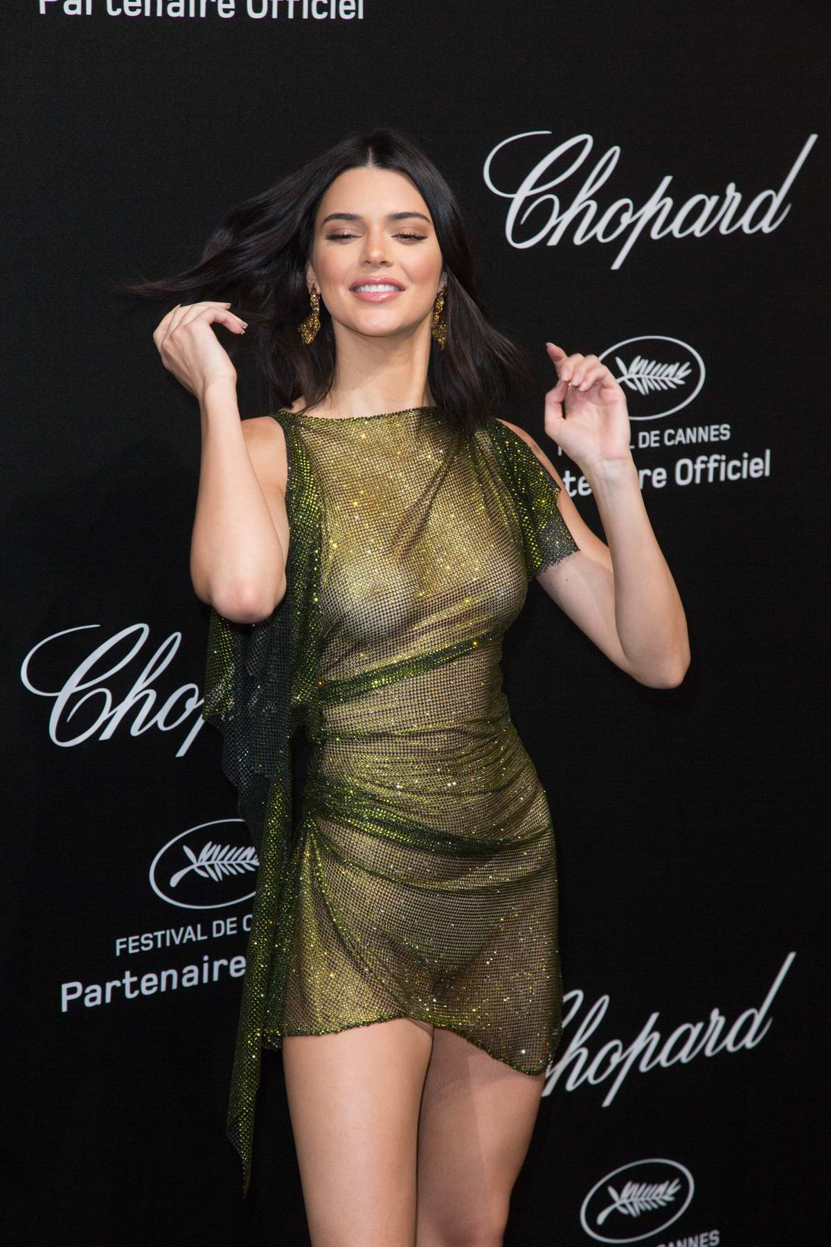 Kendall Jenner Attends Secret Chopard Party During The