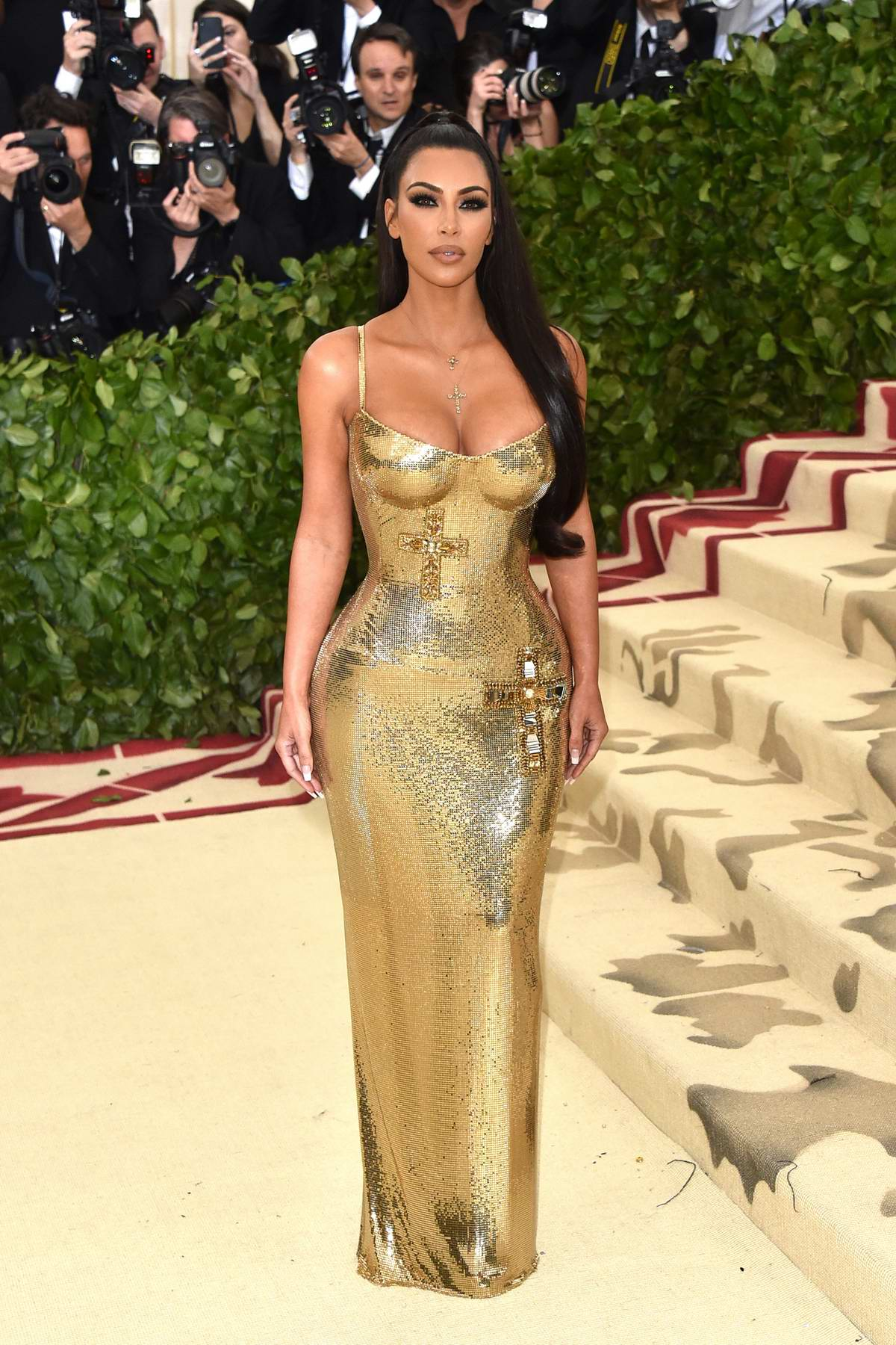 Kim Kardashian attends The Costume Institute Benefit Gala (MET Gala 2018) at Metropolitan Museum of Art in New York City