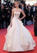 Kimberley Garner attends 'Girls Of The Sun' premiere during 71st Annual Cannes Film Festival in Cannes, France