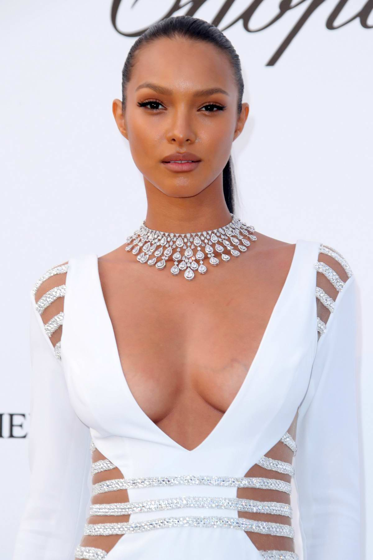 Lais Ribeiro at the amfAR's 25th Cinema Against AIDS Gala during 71st Cannes Film Festival, France