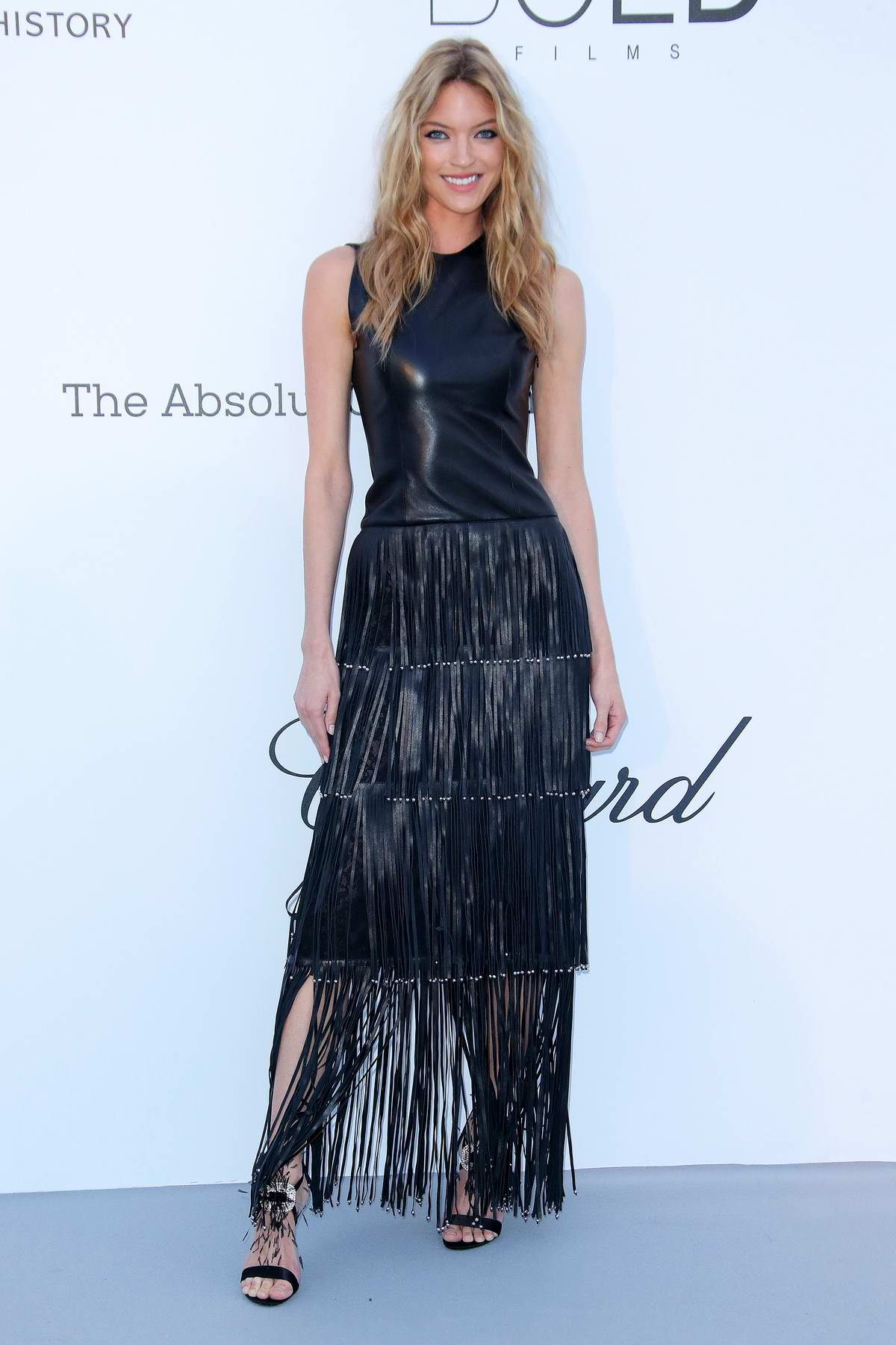 Martha Hunt wears custom Sonia Rykiel at the amfAR's 25th Cinema Against AIDS Gala during 71st Cannes Film Festival, France