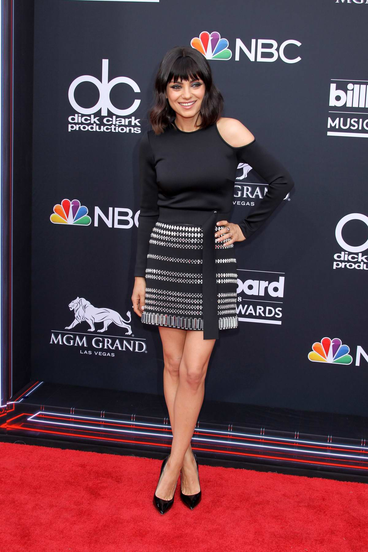 Mila Kunis attends the 2018 Billboard Music Awards at MGM Grand Garden in Las Vegas, Nevada