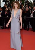 Milla Jovovich attends 'Burning' premiere during 71st Cannes film festival in Cannes, France