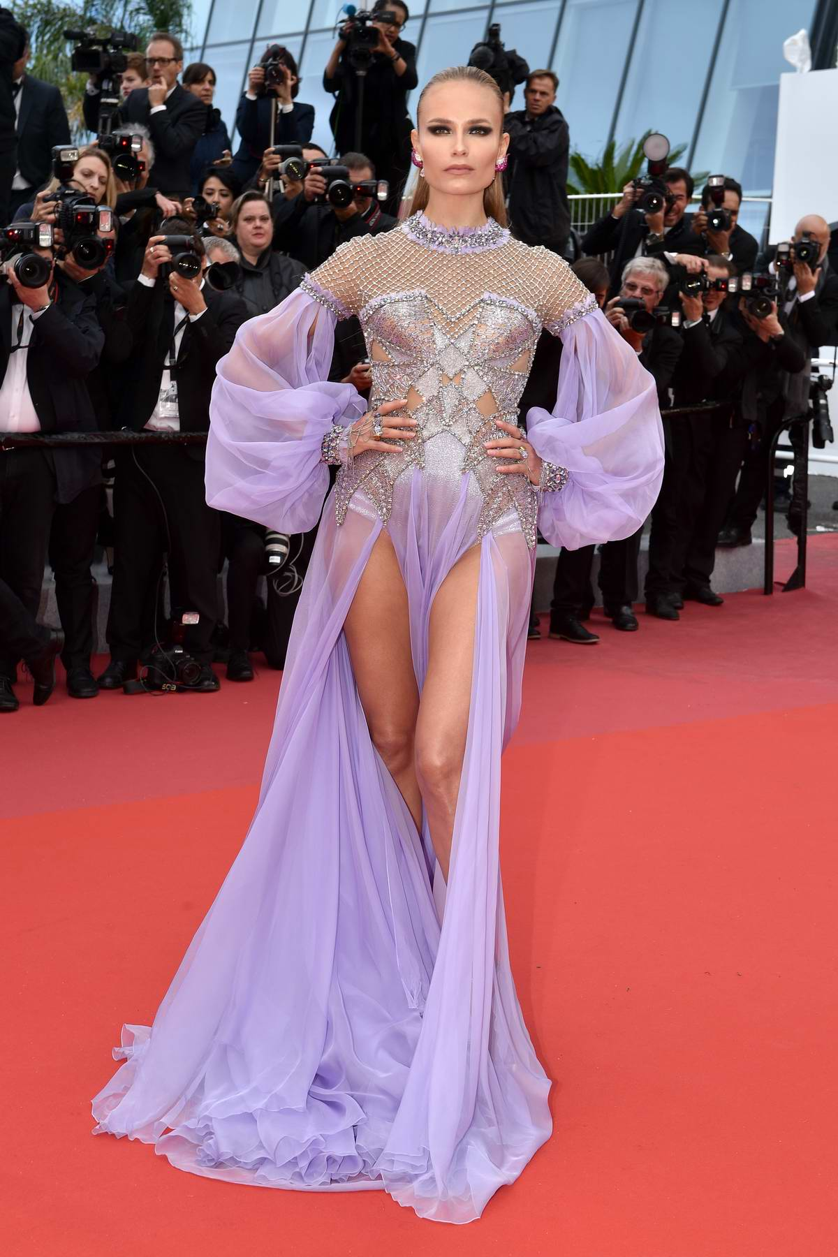 Natasha Poly attends the 'BlacKkKlansman' premiere during 71st Cannes Film Festival in Cannes, France