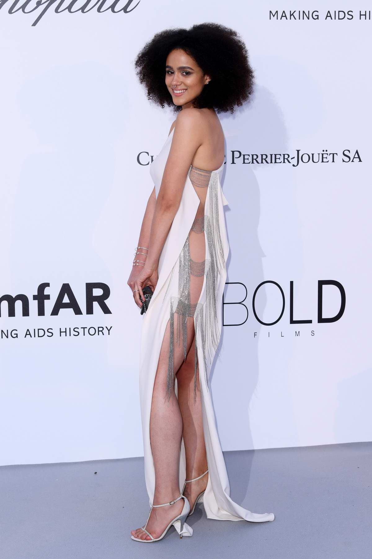 Nathalie Emmanuel at the amfAR's 25th Cinema Against AIDS Gala during 71st Cannes Film Festival, France