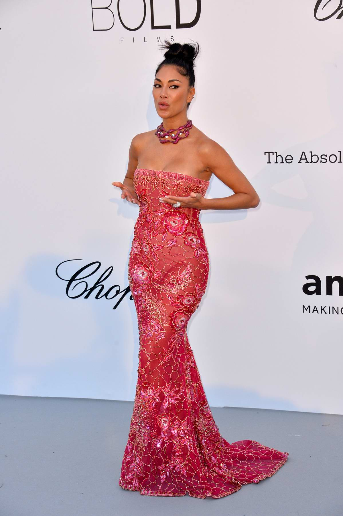 Nicole Scherzinger at the amfAR's 25th Cinema Against AIDS Gala during 71st Cannes Film Festival, France