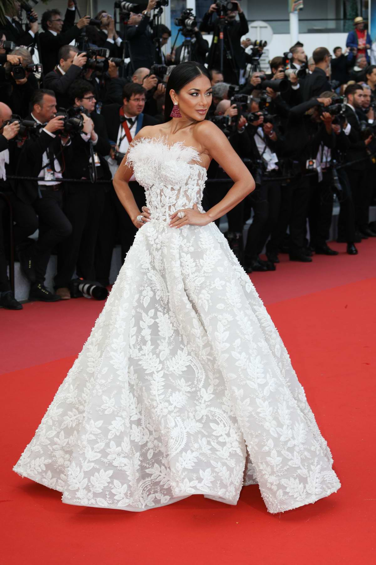 Nicole Scherzinger attends the 'BlacKkKlansman' premiere during 71st Cannes Film Festival in Cannes, France