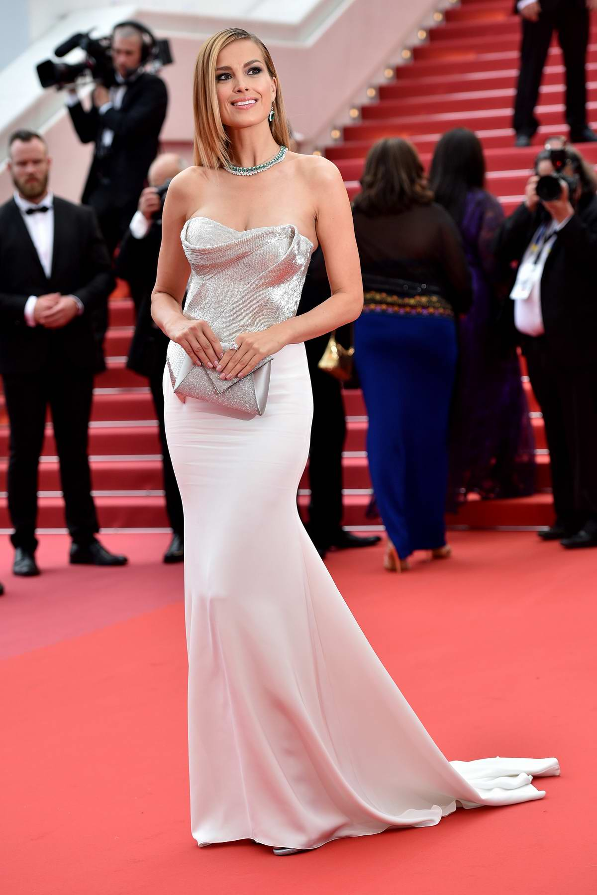 Petra Nemcova at the premiere of 'Sorry Angel' during 71st Cannes Film Festival in Cannes, France