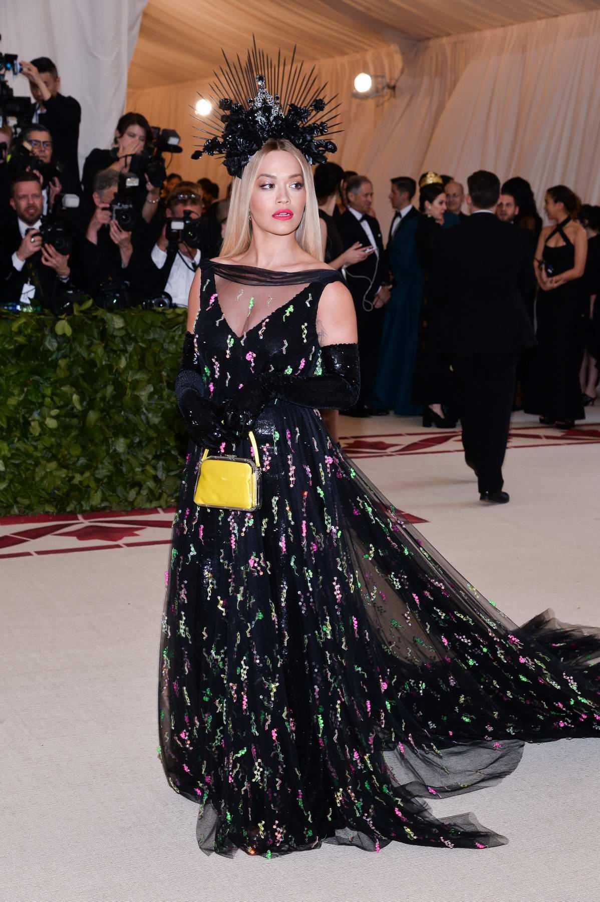Rita Ora attends The Costume Institute Benefit Gala (MET Gala 2018) at Metropolitan Museum of Art in New York City