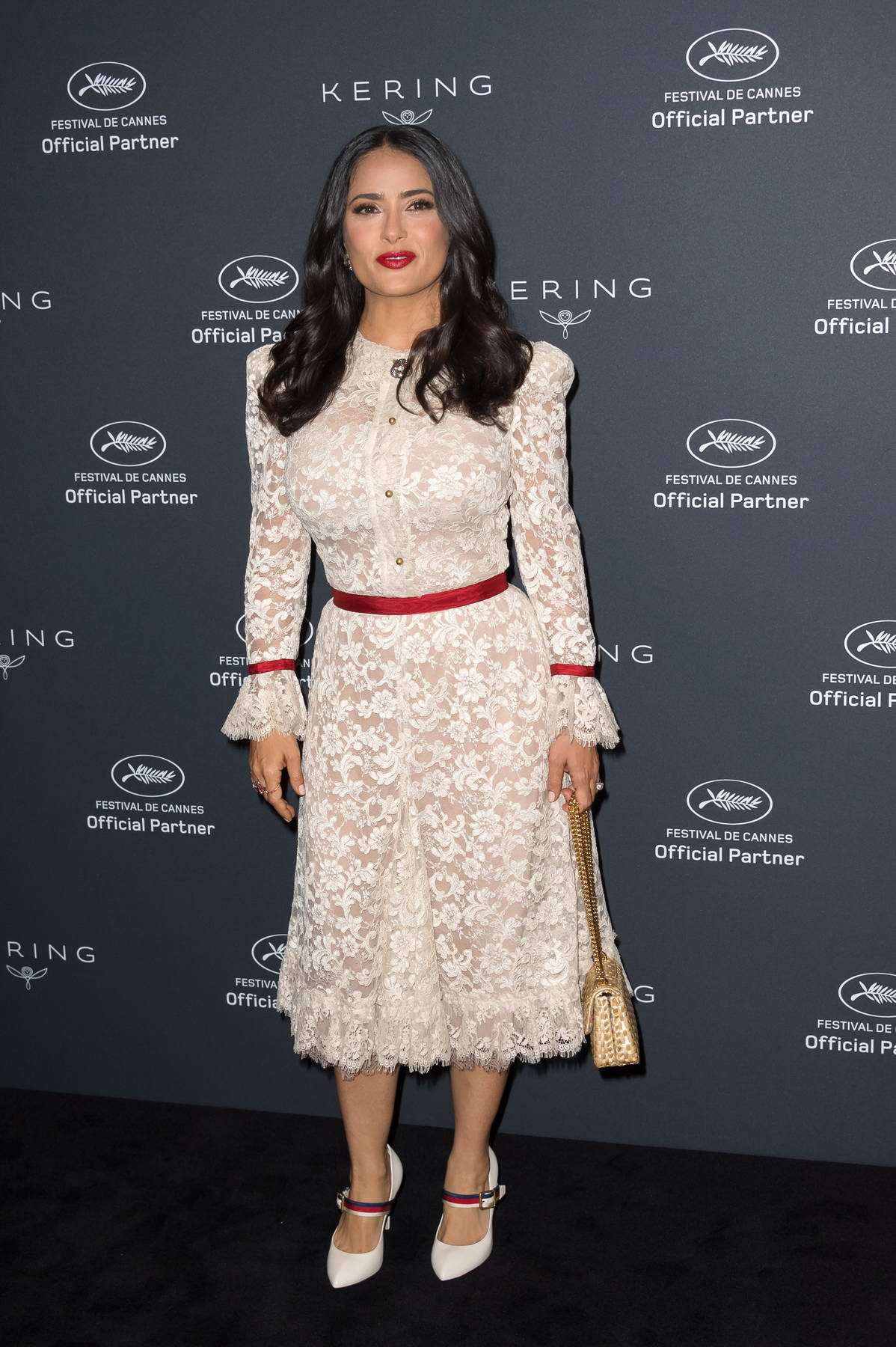 Salma Hayek attends Kering Women in Motion Photocall during 71st Cannes Film Festival in Cannes, France